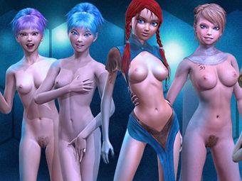 Jouer hentai nues avec des filles de manga 3D