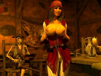 Pirate Jessica baise hentai XXX monstres